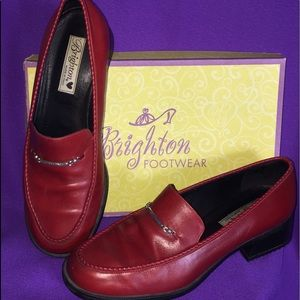 """Brighton """"Sarah"""" Red Loafers Women's 9M"""